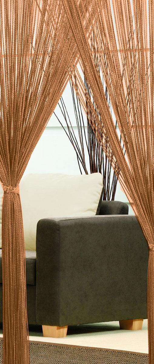Гардина-лапша Haft, на кулиске, цвет: шоколадный, высота 250 см10503Легкая гардина-лапша на кулиске Haft, изготовленная из полиэстера, станетвеликолепным украшением любого окна. Оригинальный дизайн и приятнаяцветовая гамма привлекут к себе внимание и органично впишутся в интерьеркомнаты.