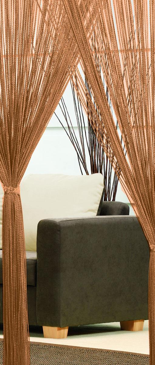 Гардина-лапша Haft, на кулиске, цвет: кофе, высота 250 см10503Легкая гардина-лапша на кулиске Haft, изготовленная из полиэстера, станетвеликолепным украшением любого окна. Оригинальный дизайн и приятнаяцветовая гамма привлекут к себе внимание и органично впишутся в интерьеркомнаты.