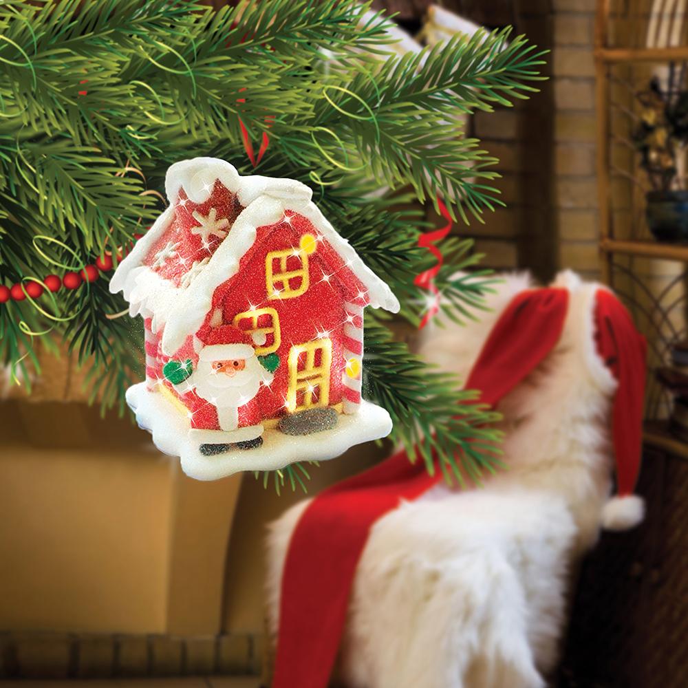 B&H Сувенир Сахарный домик с RGB светодиодом, цвет: красныйKT415EДомик пряничный с сахарной посыпкой из полимерных материалов с LED. Высота 7 см.