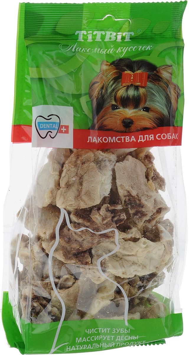 Лакомство Titbit для собак всех пород, легкое говяжье, 40 г0120710Лакомство Titbit содержит кусочки высушенного говяжьего легкого. Высокое содержание микроэлементов и соединительной ткани дополняет удовольствие собаки от нежного лакомства. Легкие содержат практически такой же набор витаминов, как и мясо, но зато гораздо менее жирные. Оказывают положительное воздействие на состояние кожи, шерсти и общий обмен веществ, а также улучшает пищеварение и перистальтику кишечника. Отвлекают собаку от желания грызть обувь и мебель. Удаляет налет с зубов и укрепляет десны.Состав: высушенные кусочки говяжьего легкого. Размер лакомства: XL.Товар сертифицирован.
