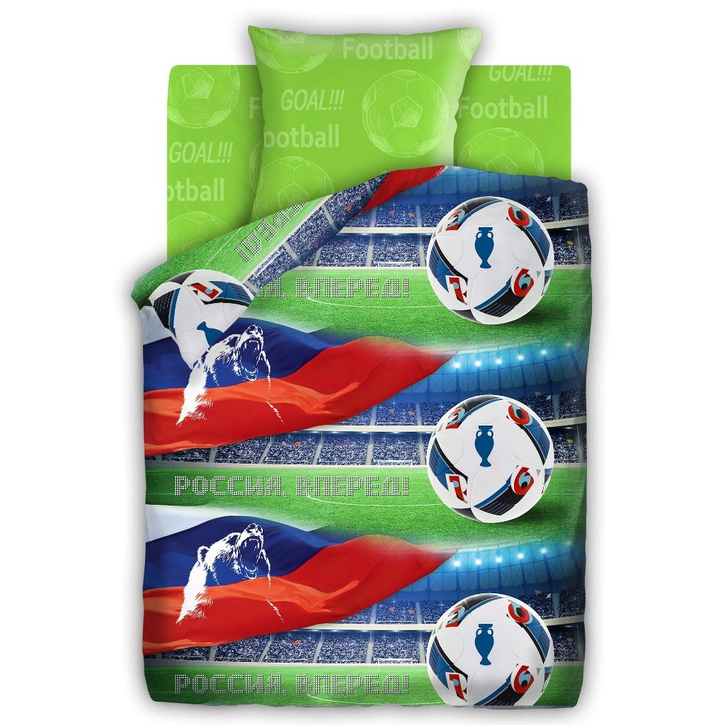 Комплект детского постельного белья For You За наших, цвет: зеленый (8772/8577 вид 2)355259