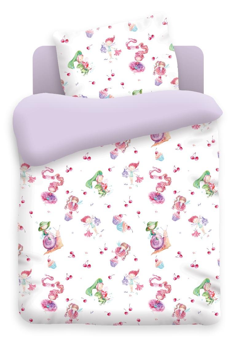 Непоседа Комплект белья для новорожденных Маленькие феечки цвет фиолетовый 4623 вид 1
