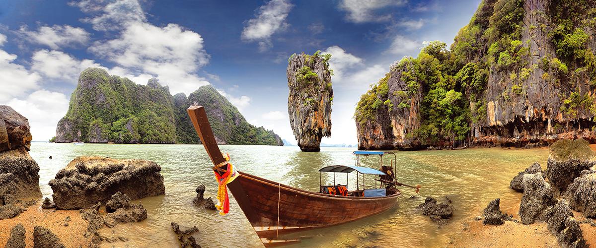 Канвасы Postermarket Остров Джеймса Бонда в Тайланде, 45 х 115 см. CT4-26CT4-26Канвас - это специальная современная технология печати на холсте. Из любимых фотографий или понравившихся вам изображений, которых в Интернете неограниченное количество, вы можете сделать собственную фотокартину. Холст изготовлен из полиэстера, рамка - из дерева. Размер панно: 450 x 1150 мм.