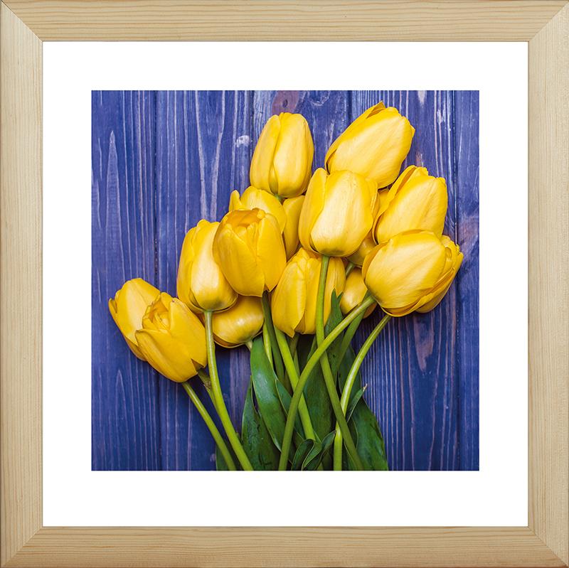 Картина Postermarket Желтые тюльпаны, 40 х 40 см. MC-59MC-59Картина Postermarket Желтые тюльпаны прекрасно подойдет для декора интерьера различных помещений. Постер, выполненный в технике фотопечать, обрамлен паспарту и оформлен багетом бежевого цвета. Картина для интерьера (постер) - это современное и актуальное направление в дизайне помещений. Ее можно использовать для оформления любых помещений (дом, квартира, офис, бар, кафе, ресторан или гостиница). работоспособность. Правильное оформление интерьера создает благоприятный психологический климат, улучшает настроение и мотивирует. Размер картины: 400 x 400 мм.