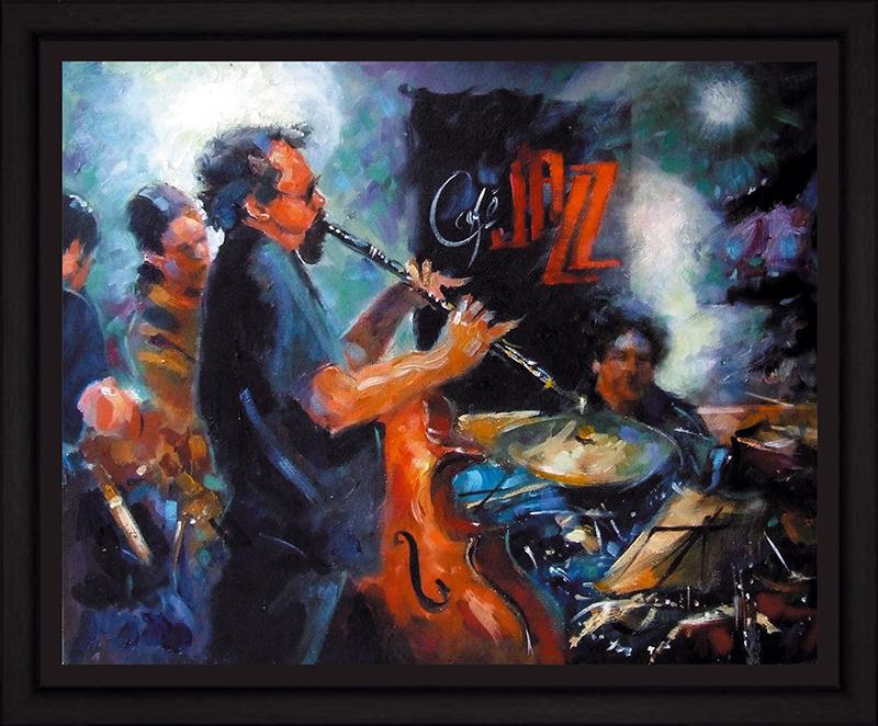Картина Postermarket Джаз в кафе, 40 х 50 см. PM-4023PM-4023