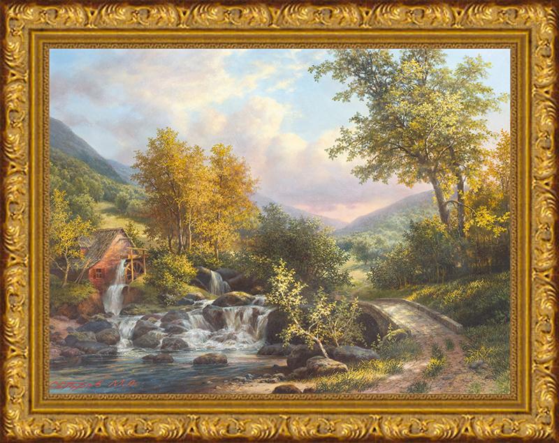 Картина Postermarket Водяная мельница, 30 х 40 см. SA-3004SA-3004