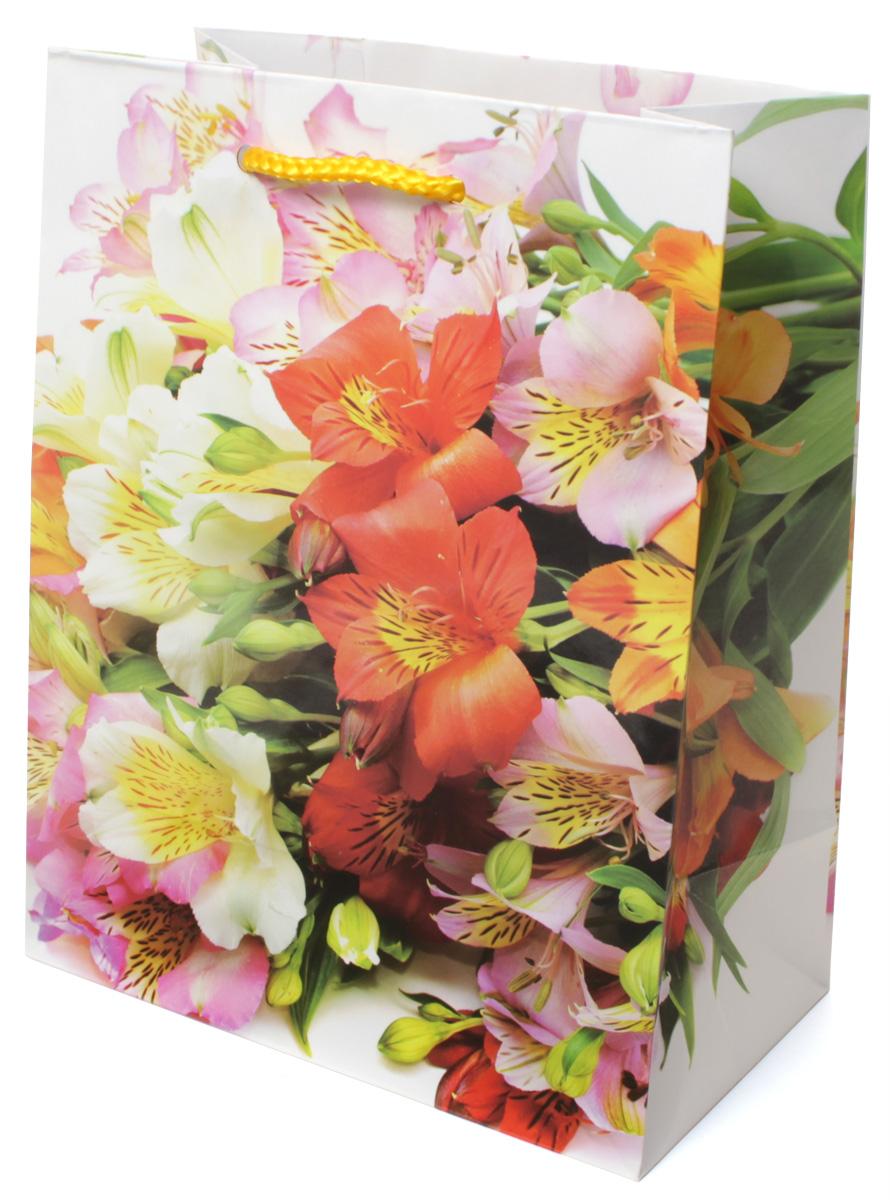 Пакет подарочный МегаМАГ Цветы, 18 х 22,7 х 10 см. 2133 M2133 MПодарочный пакет МегаМАГ, изготовленный из плотной ламинированной бумаги, станет незаменимым дополнением к выбранному подарку. Для удобной переноски на пакете имеются две ручки-шнурки. Подарок, преподнесенный в оригинальной упаковке, всегда будет самым эффектным и запоминающимся. Окружите близких людей вниманием и заботой, вручив презент в нарядном, праздничном оформлении.