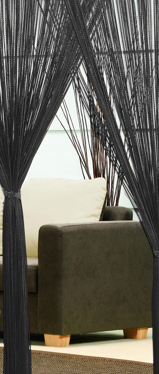 Гардина-лапша Haft, на кулиске, цвет: черный, высота 250 см. 4699046990/90 черныйЛегкая гардина-лапша на кулиске Haft, изготовленная из полиэстера, станет великолепным украшением любого окна. Оригинальный дизайн и приятная цветовая гамма привлекут к себе внимание и органично впишутся в интерьер комнаты. К изделию прилагается удобный мешок для стирки на стяжке.