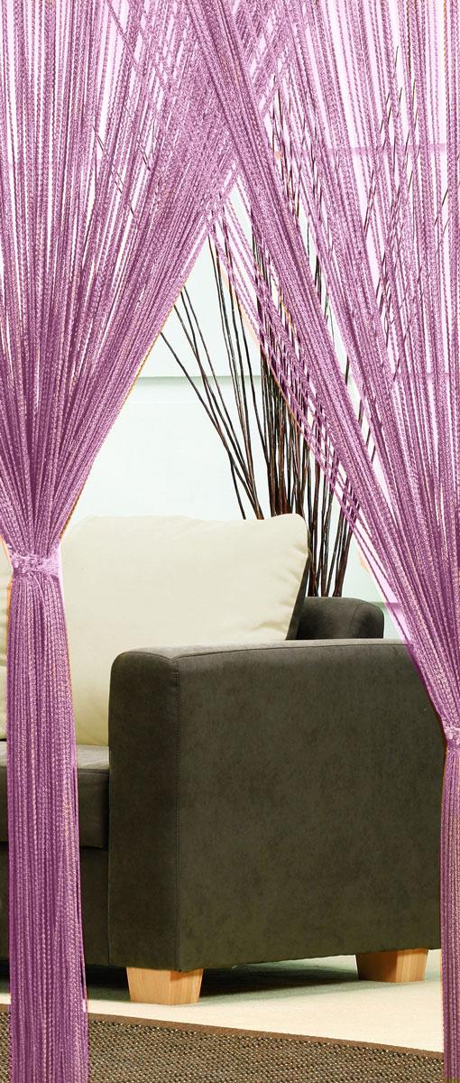 Гардина-лапша Haft, на кулиске, цвет: фиолетовый, высота 250 см. 46990S03301004Легкая гардина-лапша на кулиске Haft, изготовленная из полиэстера, станетвеликолепным украшением любого окна. Оригинальный дизайн и приятнаяцветовая гамма привлекут к себе внимание и органично впишутся в интерьеркомнаты.К изделию прилагается удобный мешок для стирки на стяжке.
