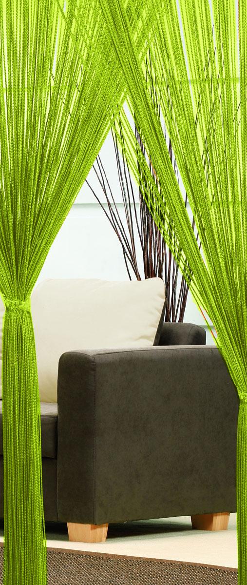 Гардина-лапша Haft, на кулиске, цвет: салатовый, высота 250 см. 4699010503Легкая гардина-лапша на кулиске Haft, изготовленная из полиэстера, станетвеликолепным украшением любого окна. Оригинальный дизайн и приятнаяцветовая гамма привлекут к себе внимание и органично впишутся в интерьеркомнаты.К изделию прилагается удобный мешок для стирки на стяжке.