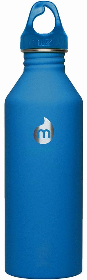 Бутылка для воды Mizu M8, цвет: синий, 800 млa026124Бутылка из пищевой нержавеющей стали для тех, кто заботится об окружающей среде и своем здоровье. Объем: 800 мл. Обхват: 24 см. Диаметр: 7 см. Высота (с крышкой): 26 см.