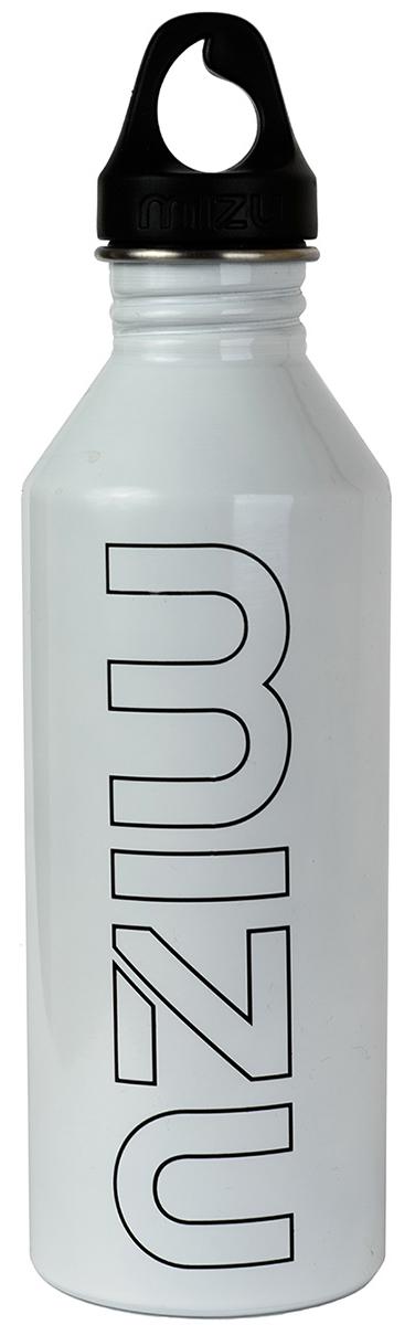 Бутылка для воды Mizu M8, цвет: глянцево белый, черный, 800 млZ-M08AMZAБутылка из пищевой нержавеющей стали для тех, кто заботится об окружающей среде и своем здоровье. Объем: 800 мл. Обхват: 24 см. Диаметр: 7 см. Высота (с крышкой): 26 см.