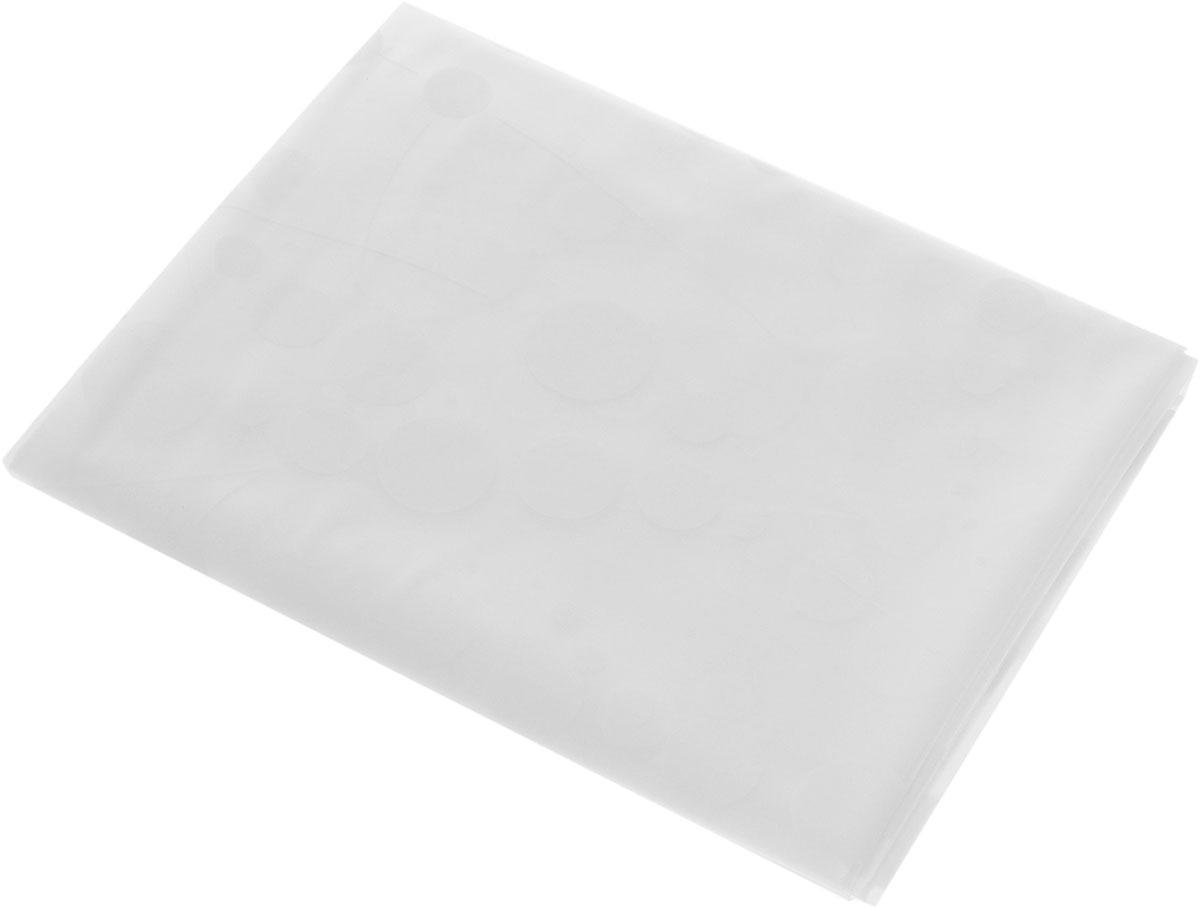 Штора для ванной комнаты Ridder Dots, цвет: белый, 180 х 200 см32371_белыйШтора для ванной комнаты Ridder Dots, изготовленная из материала ПЕВА, приятна на ощупь, устойчива к разрывам и проколам, не пропускает воду. Она надежно защитит от брызг и капель пространство вашей ванной комнаты в то время, пока вы принимаете душ, а привлекательный дизайн шторы наполнит вашу ванную комнату положительной энергией.