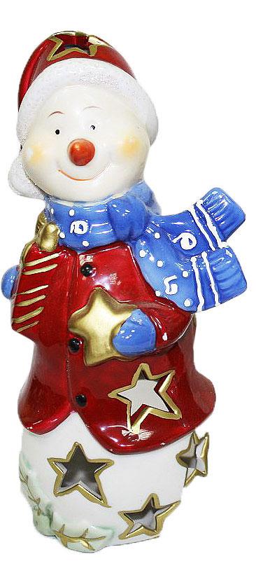 Подсвечник Lillo, цвет: красный, белый, синий, высота 22 см20111209Подсвечник Lillo, выполненный из керамики, украсит интерьер вашего дома или офиса. Оригинальный дизайн и красочное исполнение создадут праздничное настроение. Подсвечник выполнен в форме снеговика. Вы можете поставить подсвечник в любом месте, где он будет удачно смотреться, и радовать глаз. Кроме того - это отличный вариант подарка для ваших близких и друзей в преддверии Нового года.