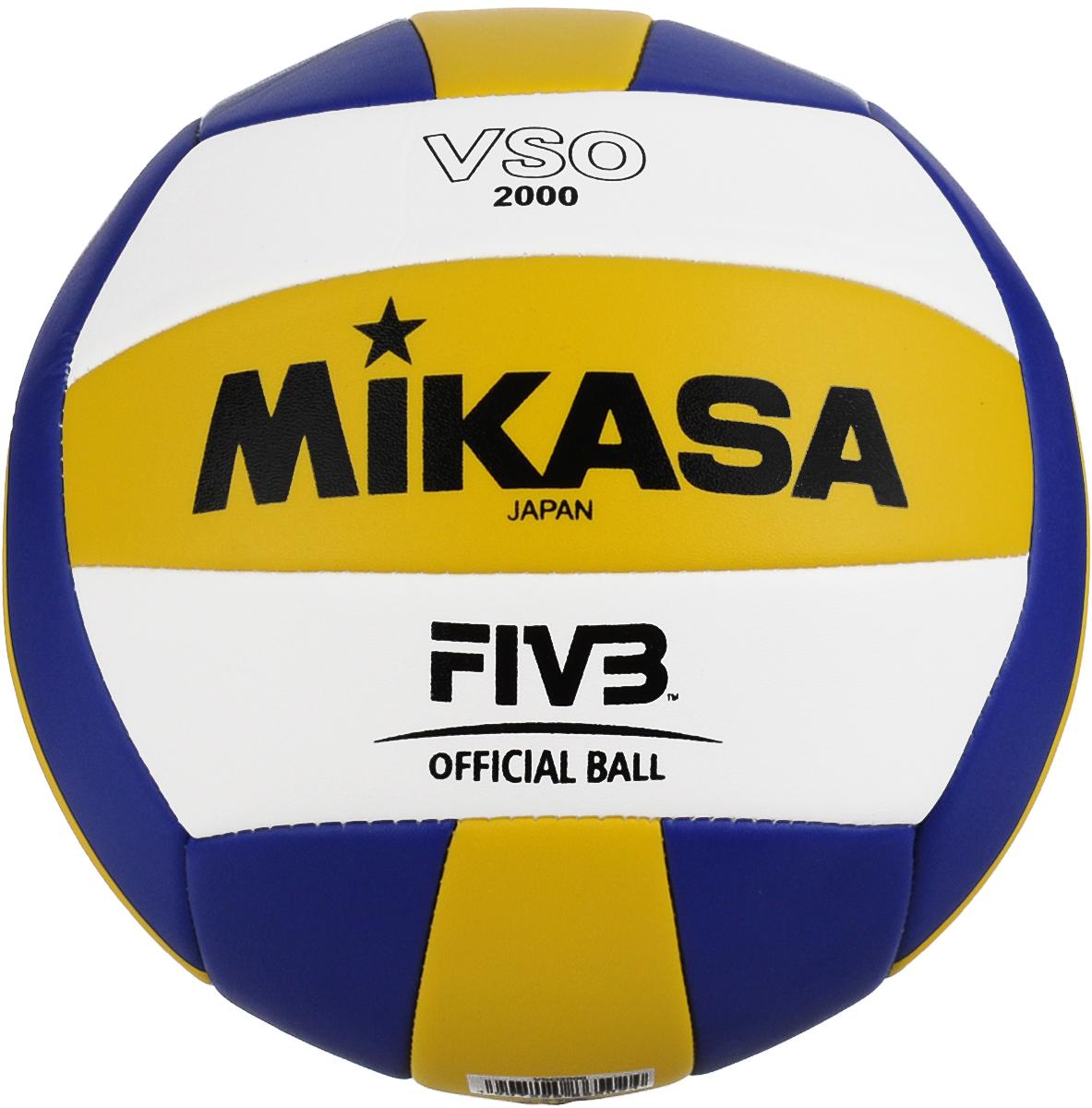 Мяч волейбольный Mikasa VSO 2000. Размер 5120330_yellow/blackОблегченный мяч Mikasa VSO 2000 предназначен для тренировок начинающих волейболистов и любителей. Изделие состоит из 18 панелей, выполненных из синтетической кожи. Камера изготовлена из бутила. Технология сшивки панелей TwinSTLock обеспечивает долговечность и прочность, как у клееного мяча.УВАЖЕМЫЕ КЛИЕНТЫ!Обращаем ваше внимание на тот факт, что мяч поставляется в сдутом виде. Насос в комплект не входит.