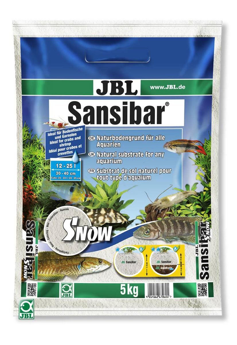 Декоративный мелкий грунт для аквариума JBL Sansibar, снежно-белый, 5 кгJBL6706000JBL Sansibar SNOW - Декоративный мелкий грунт для аквариума, снежно-белый, 5 кг.