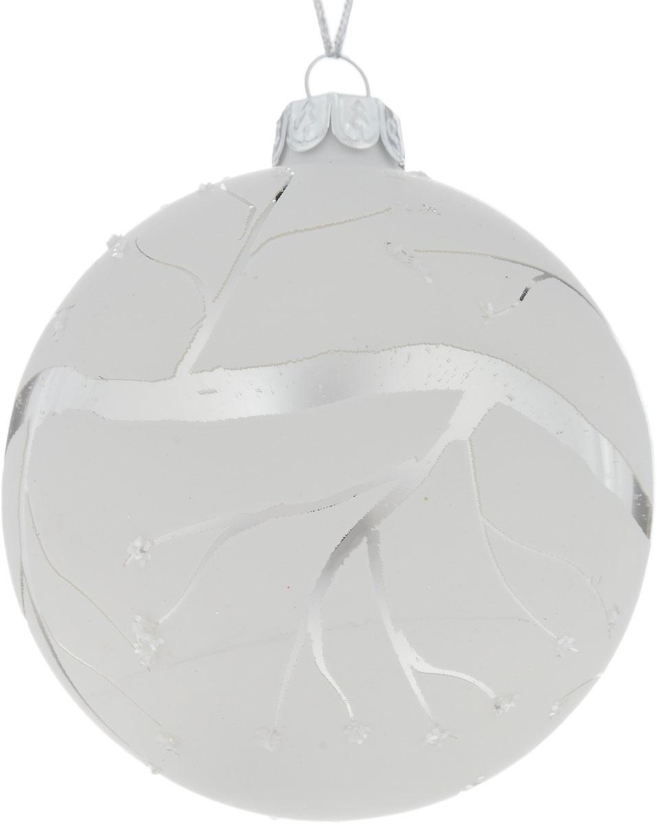 Украшение новогоднее подвесное Winter Wings Зима, диаметр 8 смNLED-444-7W-BKНовогоднее подвесное украшение Winter Wings Зима выполнено из стекла. С помощью специальной петельки украшение можно повесить в любом понравившемся вам месте. Но, конечно, удачнее всего оно будет смотреться на праздничной елке.Елочная игрушка - символ Нового года. Она несет в себе волшебство и красоту праздника. Создайте в своем доме атмосферу веселья и радости, украшая новогоднюю елку нарядными игрушками, которые будут из года в год накапливать теплоту воспоминаний.Диаметр: 8 см.