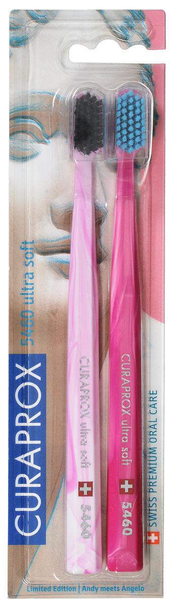 Curaprox CS 5460/2 Duo Michelangelo Набор зубных щеток ultrasoft, d 0,10 мм (2 шт.) цвет:розовый,светло-розовыйCS5460_розовый,светло-розовый