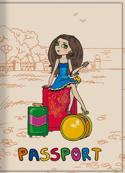 Обложка для паспорта женская КвикДекор Отпуск, цвет: слоновая кость. DC-15-0001-2DC-15-0001-2Оригинальная, яркая и качественная обложка для паспорта КвикДекор Отпуск изготовлена из качественной экокожи. Подходит для всех видов паспортов, как общегражданских, так и заграничных. Изображение устойчиво к стиранию. Изделие раскладывается пополам. Яркий современный дизайн, который является основной фишкой данной модели, будет радовать глаз.