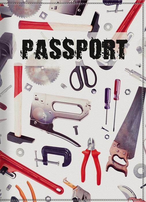 Обложка для паспорта мужская КвикДекор Инструменты, цвет: слоновая кость. DC-15-0039-1021201_01Оригинальная, яркая и качественная обложка для паспорта КвикДекор Инструменты изготовлена из качественной экокожи. Подходит для всех видов паспортов, как общегражданских, так и заграничных. Изображение устойчиво к стиранию. Изделие раскладывается пополам.Яркий современный дизайн, который является основной фишкой данной модели, будет радовать глаз.