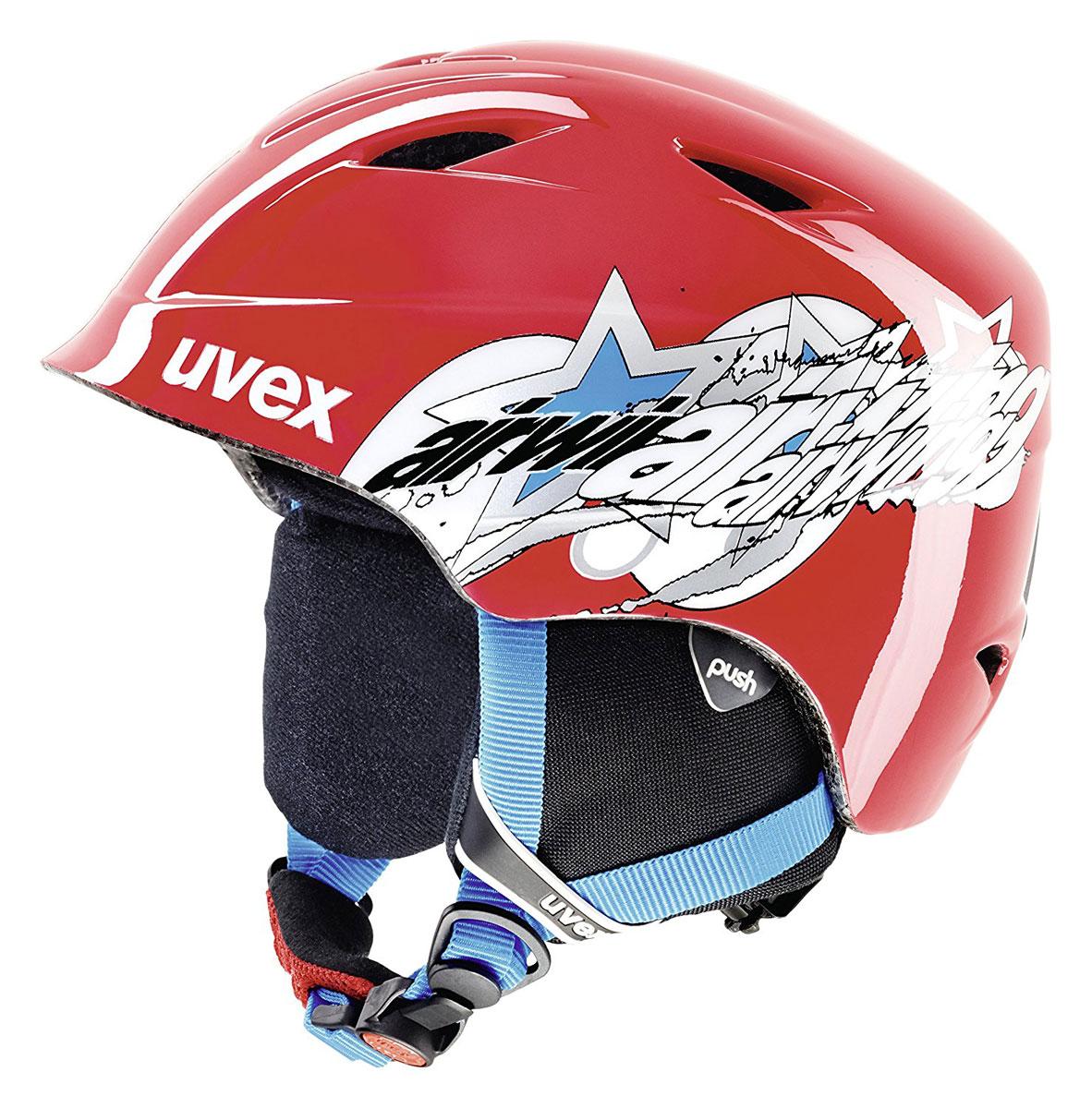 """Шлем зимний Uvex """"Airwing 2"""", детский, цвет: красный. Размер XXS 6132-3300"""