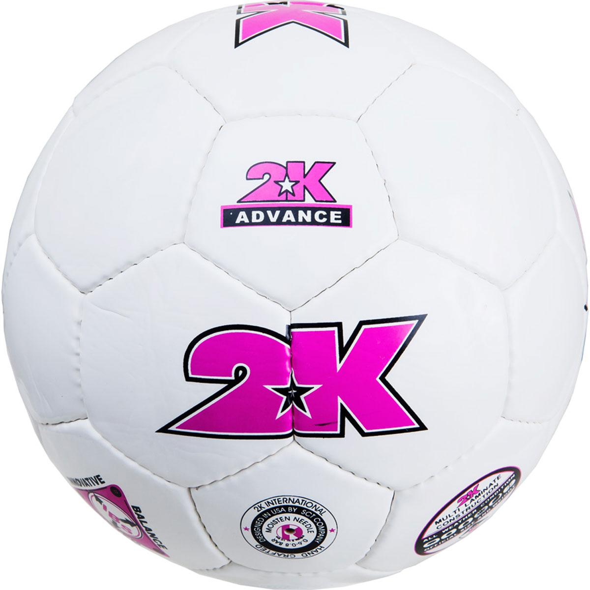 """Мяч футбольный 2K Sport """"Advance"""", цвет: белый, фиолетовый. Размер 4 127048"""