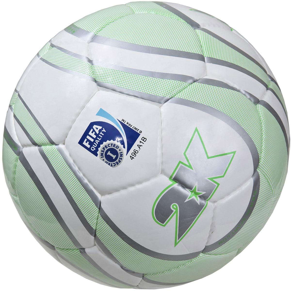 "Мяч футбольный 2K Sport ""Parity"", цвет: белый, серый, зеленый. Размер 5 127082F"
