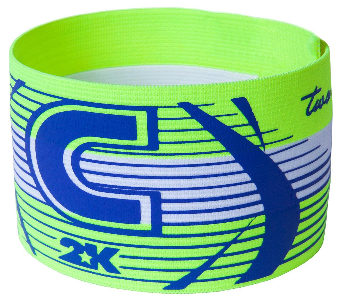 Повязка капитанская 2K Sport Captain, цвет: светло-зеленый, голубой126317Яркая повязка на руку 2K Sport Captain применяется для того, чтобы выделить на поле капитана команды. Выполнено изделие из высококачественного полиэстера. Размер универсальный.