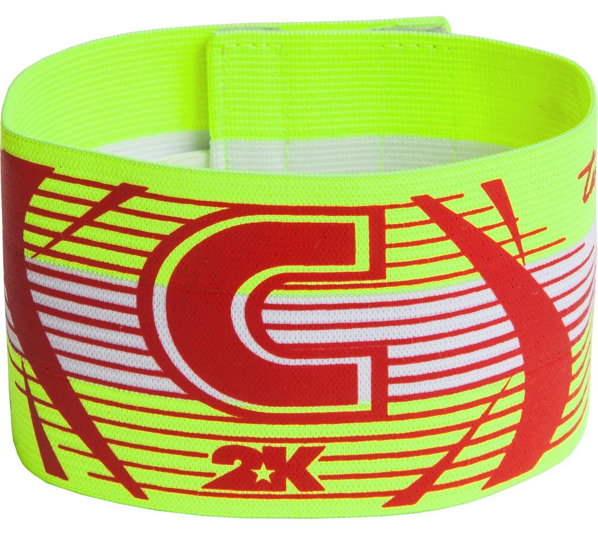 Повязка капитанская 2K Sport Captain, цвет: светло-зеленый, красный126317Яркая повязка на руку 2K Sport Captain применяется для того, чтобы выделить на поле капитана команды. Выполнено изделие из высококачественного полиэстера. Размер универсальный.