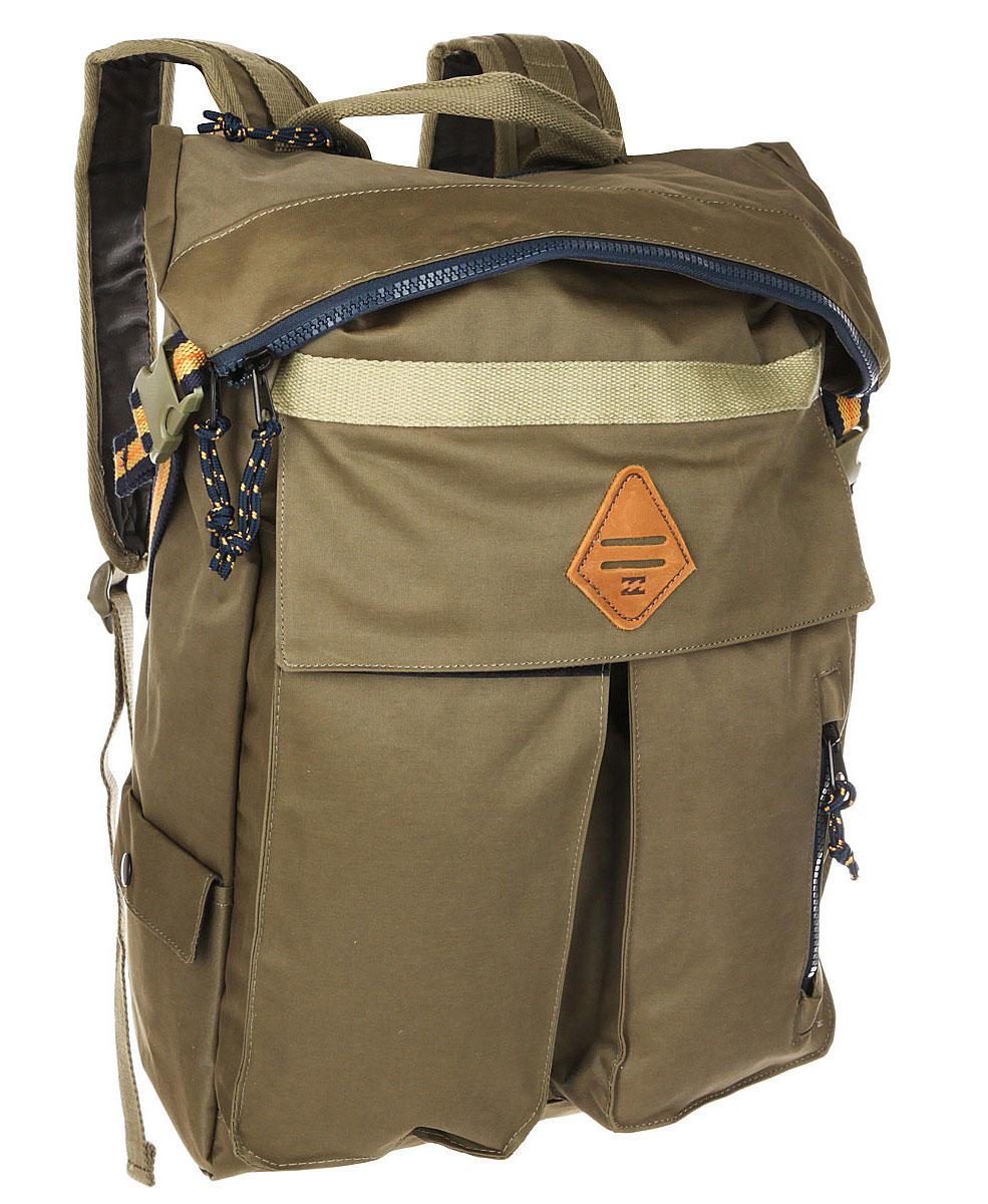 Рюкзак городской мужской Billabong Flux Surfplus, цвет: милитари , 25 л. Z5BP13EQYBP03337-KVJ0Стильный и функциональный городской рюкзак. Все карманы и отделения расположены таким образом, чтобы Вы легко могли убрать или достать необходимую Вам вещь. С таким рюкзаком точно не пропадешь.