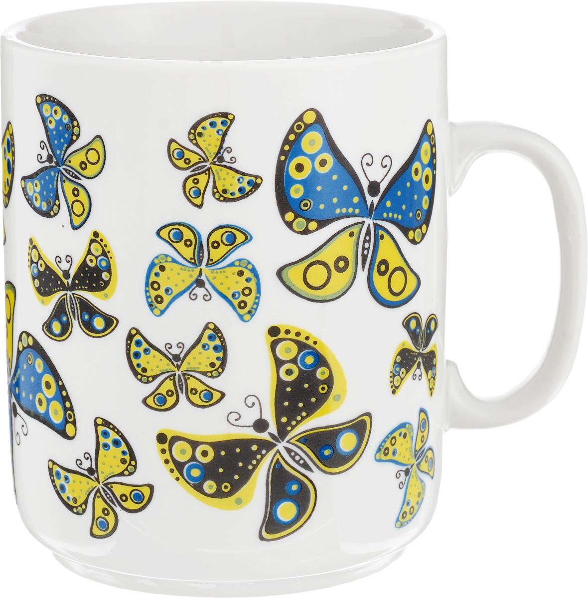Кружка Фарфор Вербилок Солнечные бабочки, 300 мл9273950Красивая кружка Фарфор Вербилок Солнечные бабочки способна скрасить любое чаепитие. Изделие выполнено из высококачественного фарфора. Посуда из такого материала позволяет сохранить истинный вкус напитка, а также помогает ему дольше оставаться теплым. Диаметр по верхнему краю: 7,5 см.