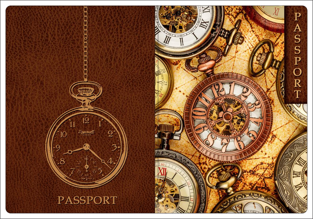 Обложка для паспорта Magic Home, цвет: коричневый, бежевый. 4451144511Обложка для паспорта от Magic Home классической модели выполнена из поливинилхлорида. Модель с широкими полями, оформлена оригинальным принтом.