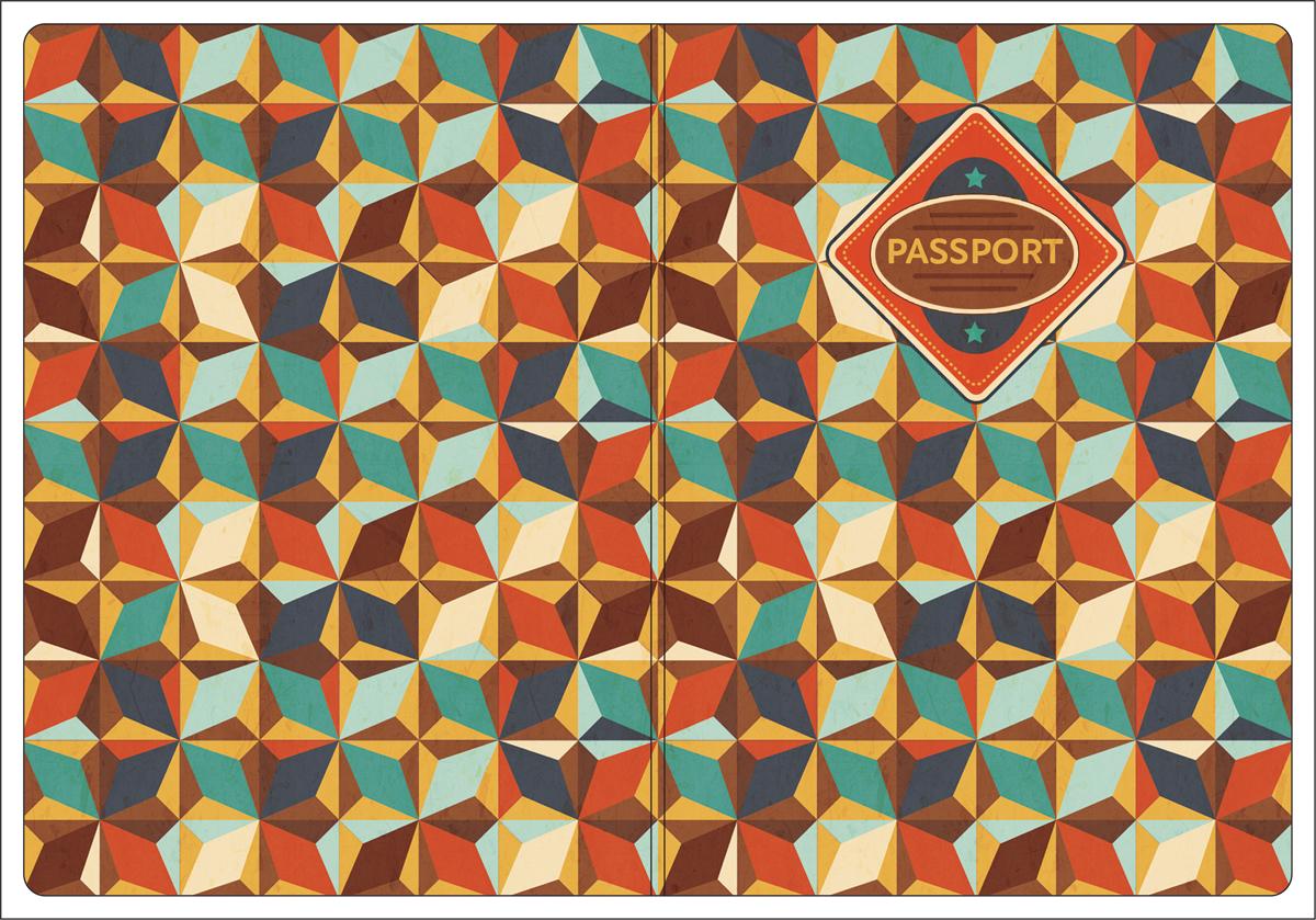 Обложка для паспорта Magic Home, цвет: коричневый, голубой. 4451744517Обложка для паспорта от Magic Home классической модели выполнена из поливинилхлорида. Модель с широкими полями, оформлена оригинальным принтом.