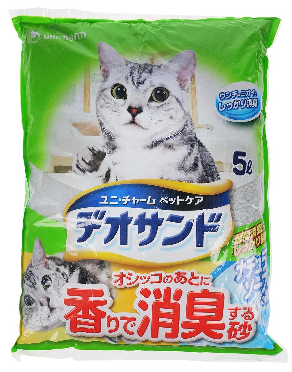 """Наполнитель для кошачьего туалета Unicharm """"DeoSand"""", с ароматом душистого мыла, 5 л 651681"""