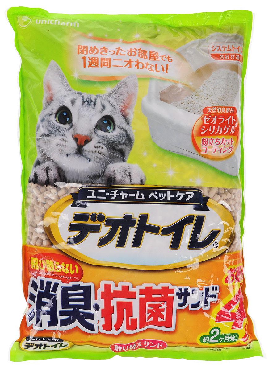 """Наполнитель для кошачьего туалета Unicharm """"DeoToilet"""", с антибактериальным эффектом, 4 л 680568"""
