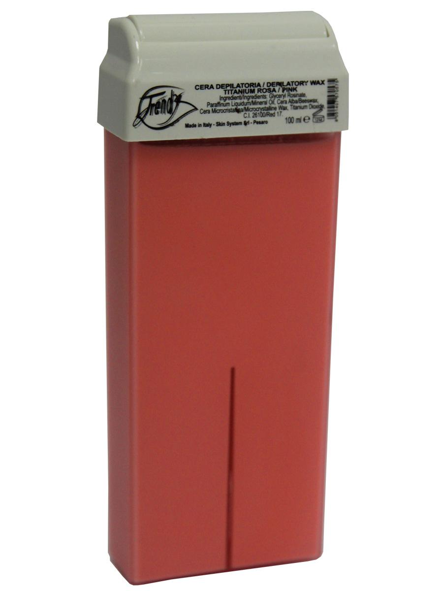Trendy Воск для депиляции Розовый (с диоксидом титана) в картридже, 100 мл30001Классический воск с легкой кремообразной текстурой. Описание: Способствует предотвращению появления пигментных пятен и морщин, сглаживает болезненные ощущения при депиляции. Входящие в состав диоксид титана и растительные масла придают воску особую мягкость, поэтому он идеально подходит для депиляции деликатных, чувствительных зон. Подходит для загорелой кожи.