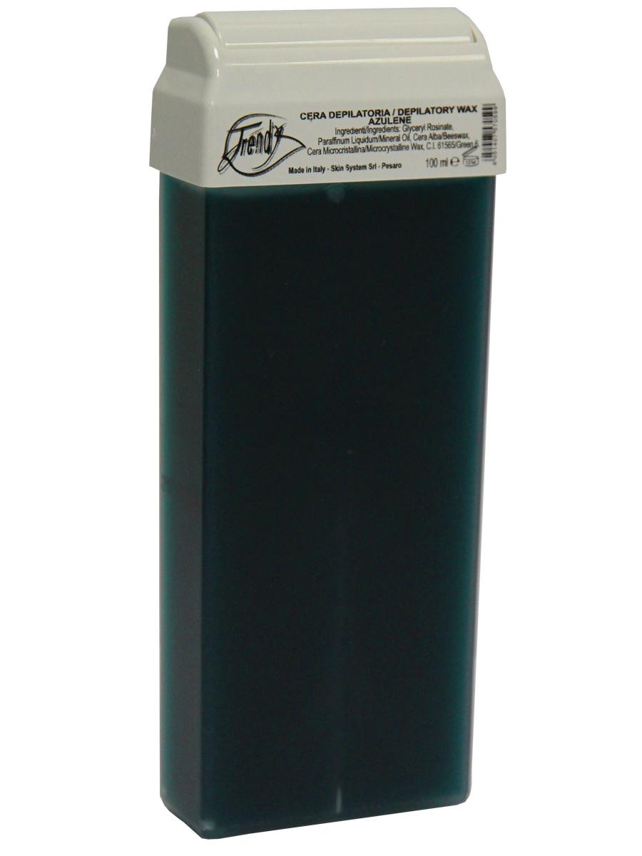 Trendy Воск для депиляции Синий в картридже, 100 мл30003Подходит для чувствительной кожи склонной к раздражению. Описание: Классический воск с легкой кремообразной текстурой, со смягчающими и успокаивающими компонентами. Обладает противовоспалительным, успокаивающим и смягчающим действием благодаря содержанию азулена и диоксида титана.