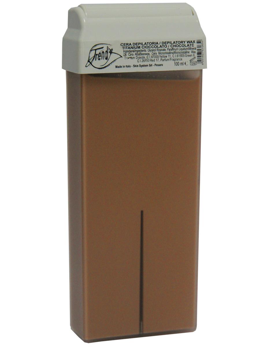 Trendy Воск для депиляции Шоколадный (с диоксидом титана) в картридже, 100 мл