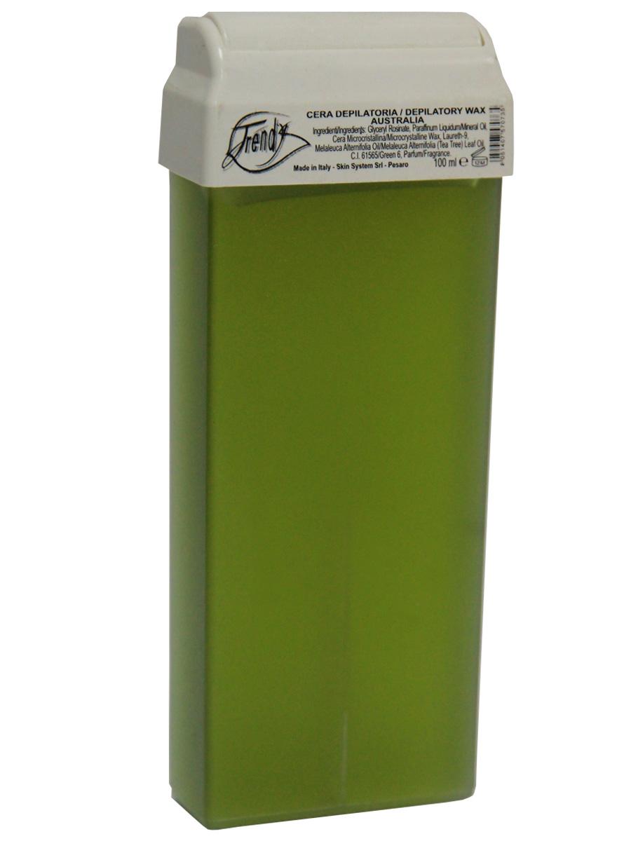 Trendy Воск для депиляции в картиридже Австралия в картридже, 100 мл30017Неплотный воск предназначен для гиперчувствительной кожи. Описание: Входящее в состав масло чайного дерева оказывает антисептическое, антибактериальное действие, обладает высокой заживляющей способностью и противовоспалительными свойствами.