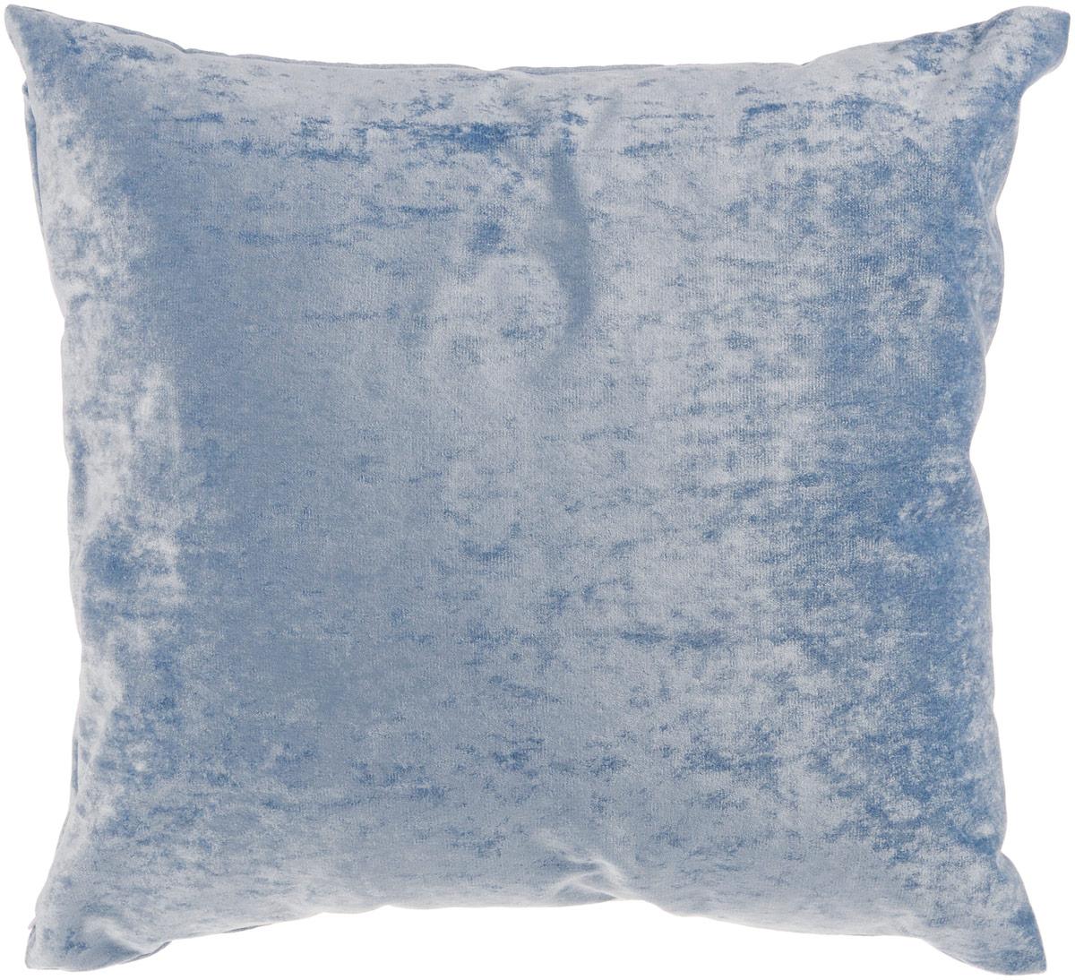 Подушка декоративная KauffOrt Бархат, цвет: голубой, 40 x 40 см3121039640Декоративная подушка Бархат прекрасно дополнит интерьер спальни или гостиной. Бархатистый на ощупь чехол подушки выполнен из 49% вискозы, 42% хлопка и 9% полиэстера. Внутри находится мягкий наполнитель. Чехол легко снимается благодаря потайной молнии. Красивая подушка создаст атмосферу уюта и комфорта в спальне и станет прекрасным элементом декора.
