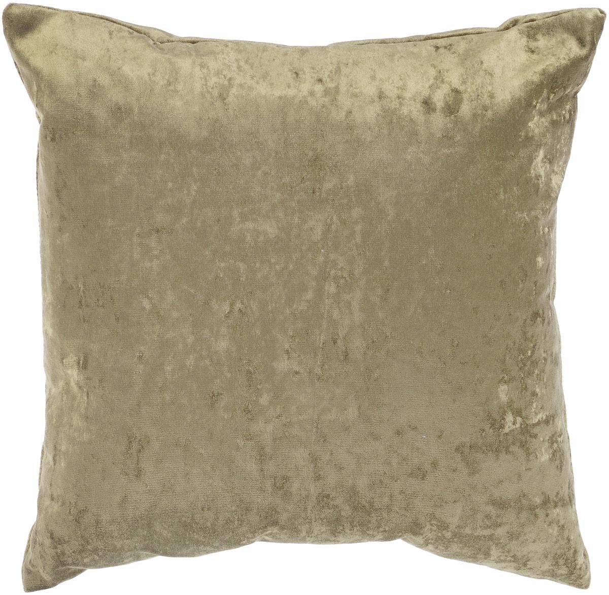 Подушка декоративная KauffOrt Бархат, цвет: темно-зеленый, 40 x 40 см3121039686Декоративная подушка Бархат прекрасно дополнит интерьер спальни или гостиной. Бархатистый на ощупь чехол подушки выполнен из 49% вискозы, 42% хлопка и 9% полиэстера. Внутри находится мягкий наполнитель. Чехол легко снимается благодаря потайной молнии. Красивая подушка создаст атмосферу уюта и комфорта в спальне и станет прекрасным элементом декора.