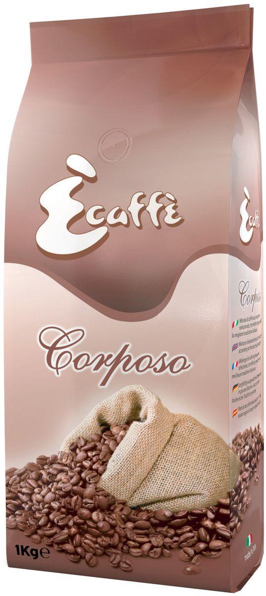 Caffitaly Ecaffe Corposo кофе в зернах, 1 кг (с клапаном дегазации)8032680750427Смесь из азиатской Робусты, смягченная настоящей Арабикой, которая придает кофе тонкий аромат. Кофе, приготовленный из смеси CORPOSO обладает сильным характером. Поэтому если Вы хотите получить больше энергии и бодрости – этот кофе будет идеальным выбором. Кофе упакован в пакеты с клапаном дегазации, что обеспечивает сохранность вкусовых и ароматических свойств зерен в течение всего срока годности. Состав: 45% Арабика, 55% Робуста. Кислотность: 3,5/10. Крепость: 8/10. Количество: 1 кг. Срок годности: 18 мес. Регион: Бразилия, Гватемала, Индия Страна производства: Италия
