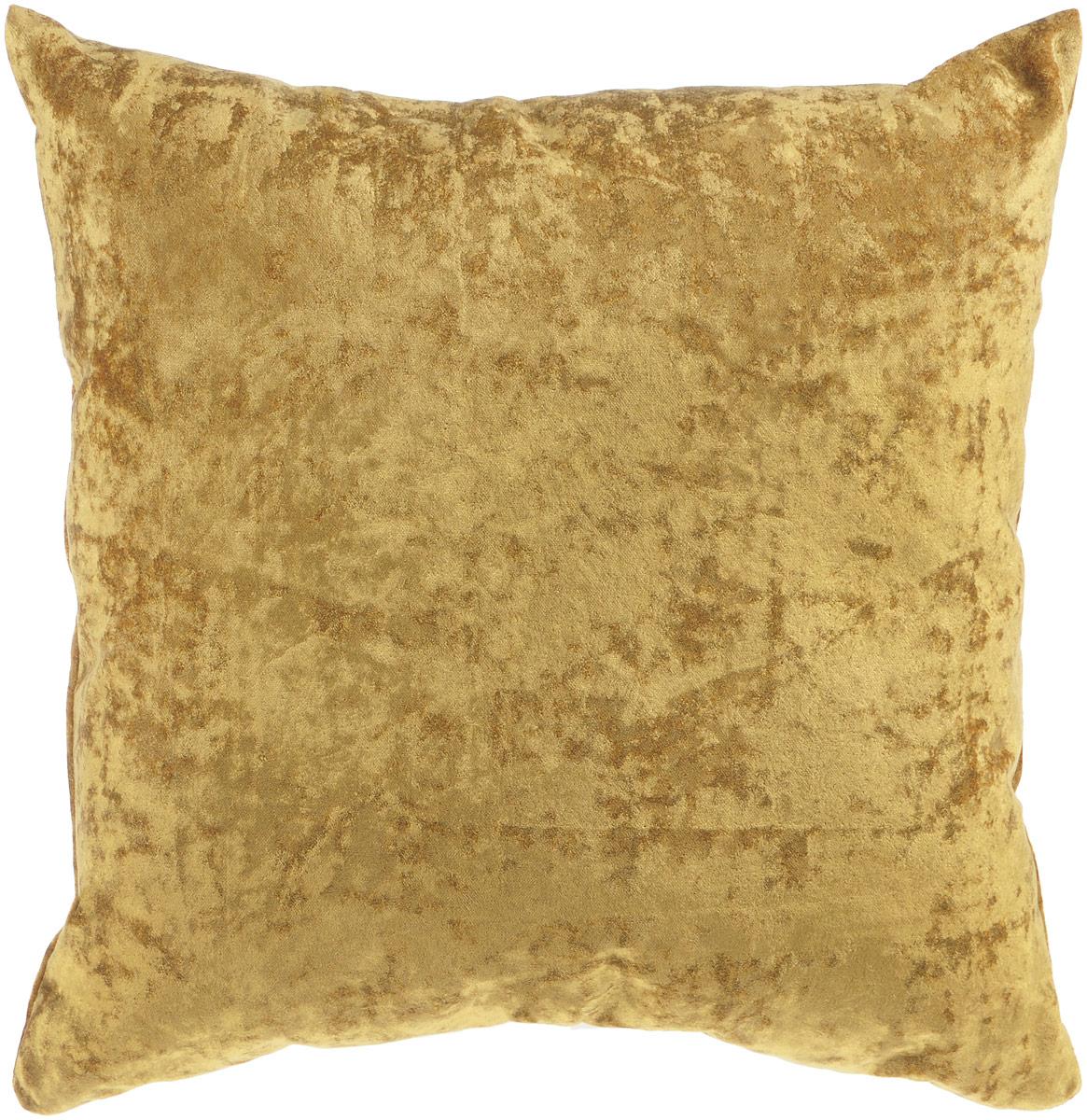 Подушка декоративная KauffOrt Бархат, цвет: горчичный, 40 x 40 смS03301004Декоративная подушка Бархат прекрасно дополнит интерьер спальни или гостиной. Бархатистый на ощупь чехол подушки выполнен из 49% вискозы, 42% хлопка и 9% полиэстера. Внутри находится мягкий наполнитель. Чехол легко снимается благодаря потайной молнии.Красивая подушка создаст атмосферу уюта и комфорта в спальне и станет прекрасным элементом декора.