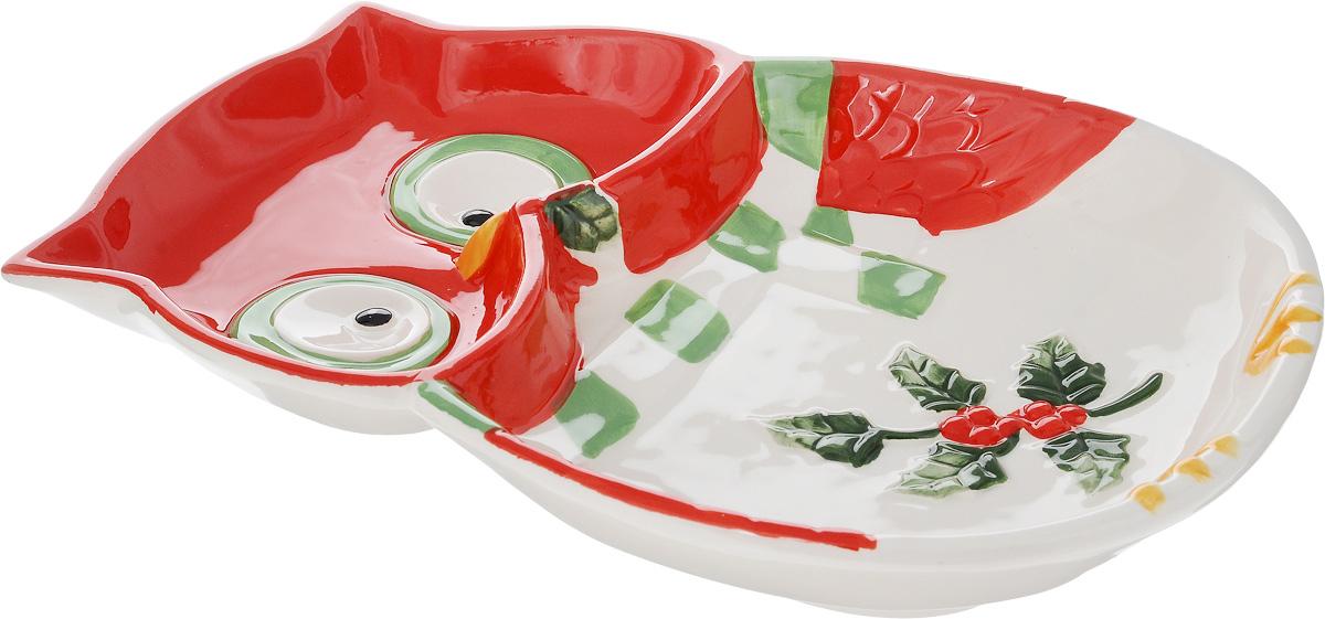 Тарелка House & Holder Сова, 24,5 х 17,5 см115510Тарелка для закусок House & Holder Сова, изготовленная из высококачественной керамики, предназначена для красивой сервировки блюд. Она оформлена оригинальным изображением и имеет изысканный внешний вид. Прекрасный дизайн изделия идеально подойдет для сервировки праздничного или обеденного стола.Размер тарелки (по верхнему краю): 24,5 х 17,5 см.