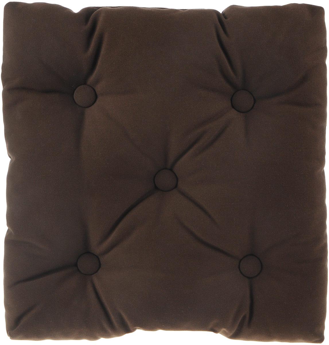 Подушка на стул KauffOrt Сад, цвет: коричневый, 40 x 40 см3121194140Подушка на стул KauffOrt Сад не только красиво дополнит интерьер кухни, но и обеспечит комфорт при сидении. Изделие выполнено из материалов высокого качества. Подушка легко крепится на стул с помощью завязок. Правильно сидеть - значит сохранить здоровье на долгие годы. Жесткие сидения подвергают наше здоровье опасности. Подушка с мягким наполнителем поможет предотвратить большинство нежелательных последствий сидячего образа жизни. Толщина подушки: 10 см.
