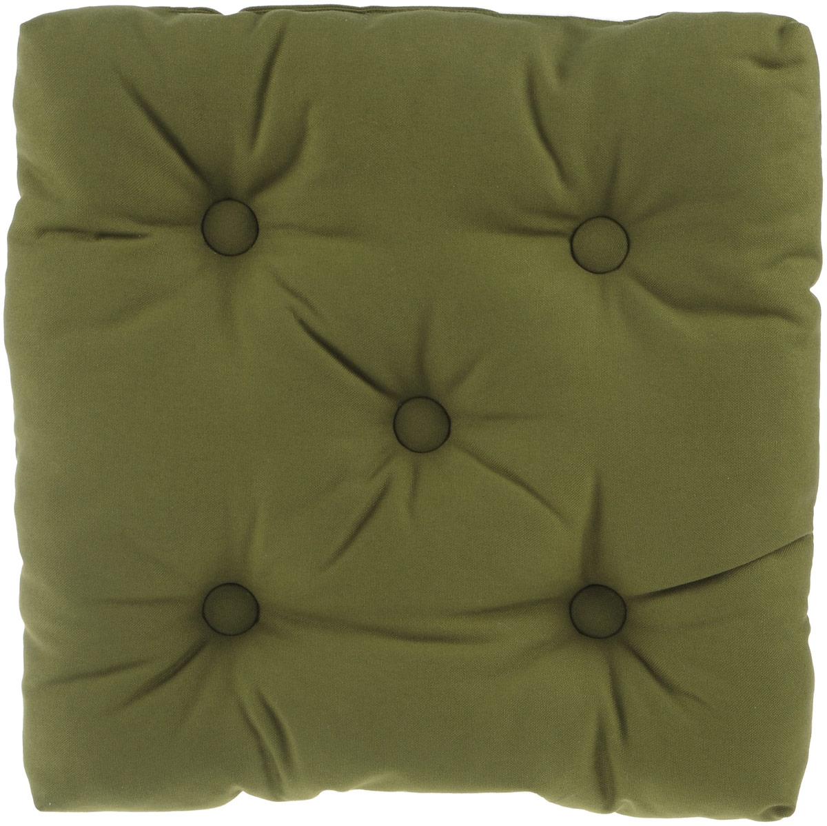 Подушка на стул KauffOrt Комо, цвет: зеленый, 40 x 40 см80653Подушка на стул KauffOrt Комо не только красиво дополнит интерьер кухни, но и обеспечит комфорт при сидении. Чехол выполнен из хлопка, а наполнитель из холлофайбера. Подушка легко крепится на стул с помощью завязок. Правильно сидеть - значит сохранить здоровье на долгие годы. Жесткие сидения подвергают наше здоровье опасности. Подушка с мягким наполнителем поможет предотвратить большинство нежелательных последствий сидячего образа жизни.Толщина подушки: 10 см.