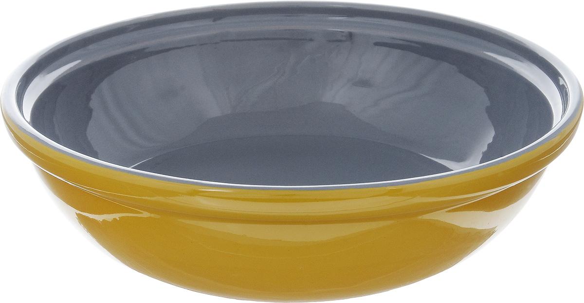 Салатник Борисовская керамика Модерн, цвет: горчичный, серый, 1 лРАД00000830_горчичный, серыйСалатник Борисовская керамика Модерн выполнен из высококачественной глазурованной керамики. Этот удобный салатник придется по вкусу любителям здоровой и полезной пищи. Благодаря современной удобной форме, изделие многофункционально и может использоваться хозяйками на кухне как в виде салатника, так и для запекания продуктов, с последующим хранением в нем приготовленной пищи. Посуда термостойкая. Можно использовать в духовке и микроволновой печи. Диаметр (по верхнему краю): 22 см. Высота стенки: 6 см.