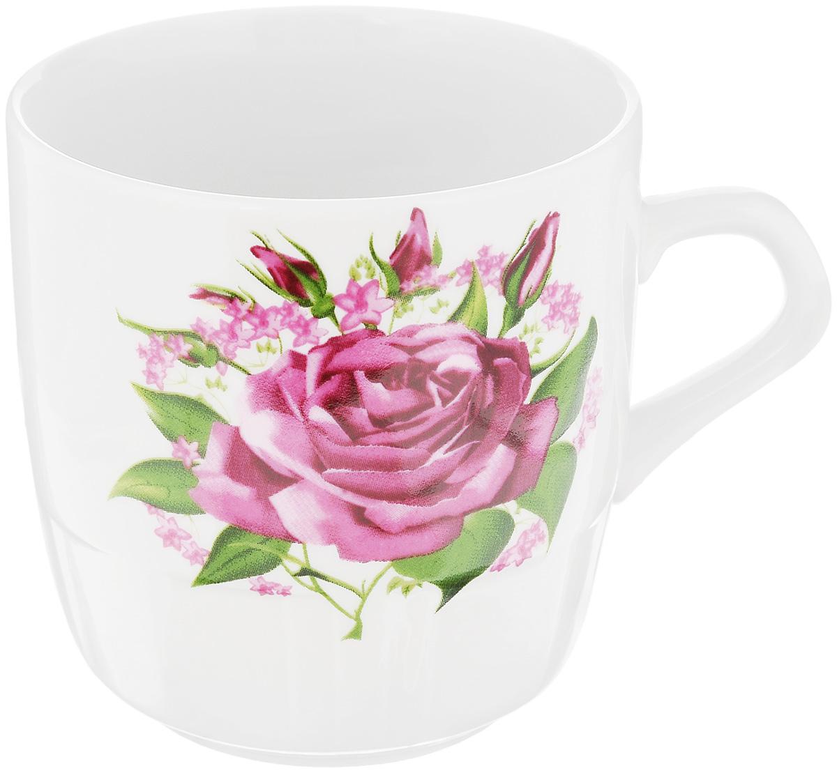 Кружка Фарфор Вербилок Розовые бутоны, 250 мл5811060Кружка Фарфор Вербилок Розовые бутоны способна скрасить любое чаепитие. Изделие выполнено из высококачественного фарфора. Посуда из такого материала позволяет сохранить истинный вкус напитка, а также помогает ему дольше оставаться теплым. Диаметр по верхнему краю: 8 см. Высота кружки: 8,5 см.