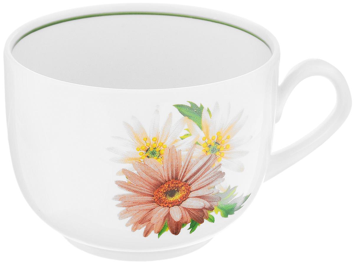 Чашка чайная Фарфор Вербилок Август. Розовые герберы, 300 мл767166КЧайная чашка Фарфор Вербилок Август. Розовые герберы способна скрасить любое чаепитие. Изделие выполнено из высококачественного фарфора. Посуда из такого материала позволяет сохранить истинный вкус напитка, а также помогает ему дольше оставаться теплым. Диаметр по верхнему краю: 8,5 см. Высота чашки: 6,5 см.