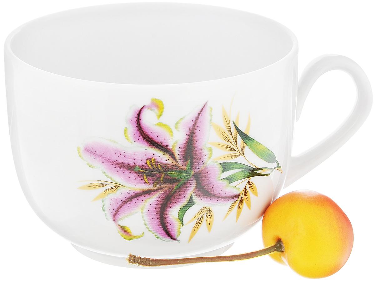 Чашка чайная Фарфор Вербилок Август. Розовая лилия, 300 мл767199Чайная чашка Фарфор Вербилок Август. Розовая лилия способна скрасить любое чаепитие. Изделие выполнено из высококачественного фарфора. Посуда из такого материала позволяет сохранить истинный вкус напитка, а также помогает ему дольше оставаться теплым. Диаметр по верхнему краю: 8,5 см. Высота чашки: 6,5 см.